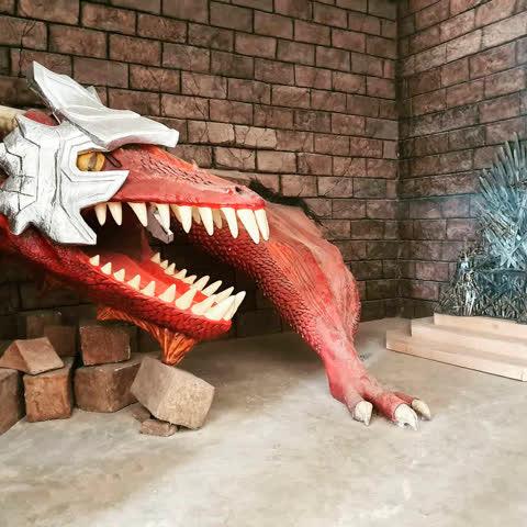 Venha conhecer o Dragão que tentou invadir o Castelo!